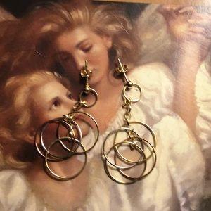 14k Tri-Color Chandelier Earrings